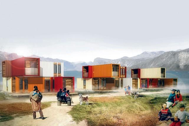 Un aménagement d'habitations suggéré par Guillaume Lévesque architecte,... (Guillaume Lévesque architecte)