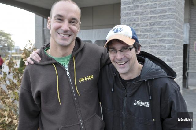 Paul Champoux et Yohann Gasse n'ont pas pu... (Photo Le Quotidien, Rocket Lavoie)