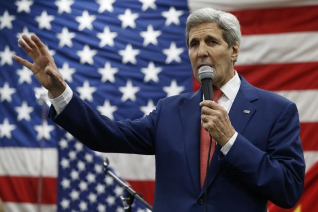 Le secrétaire d'État américain John Kerry.... (PHOTO AP)
