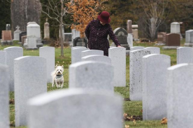 Un peu plus loin dans le cimetière militaire...