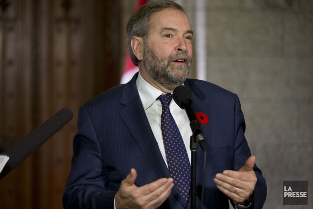 Le chef du NPD, Thomas Mulcair... (PHOTO DAVID BOILY, LA PRESSE)