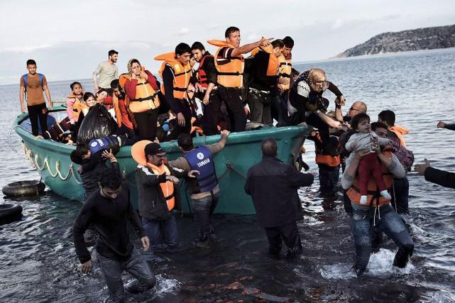Le Canada devrait accueillir125 000 réfugiés syriens en... (Archives AFP)