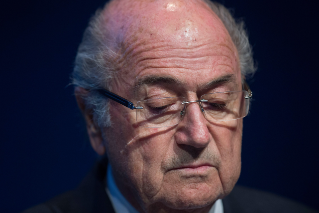 Le président démissionnaire de la FIFA, Joseph Blatter.... (Photo Valeriano Domenico, archives AFP)