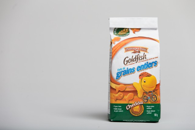 Craquelins Goldfish faits de grains entiers... (PHOTO IVANOH DEMERS, LA PRESSE)