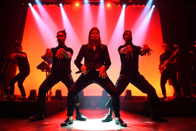 Christine and the Queens était en spectacle au... (PHOTO AFP)