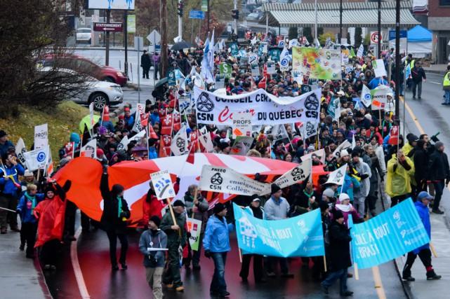 Manifestation à Shawinigan.... (François Gervais)