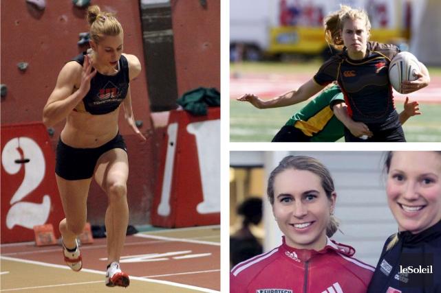 Après l'athlétisme et le rugby, Geneviève Thibault devient... (Infographie Le Soleil)
