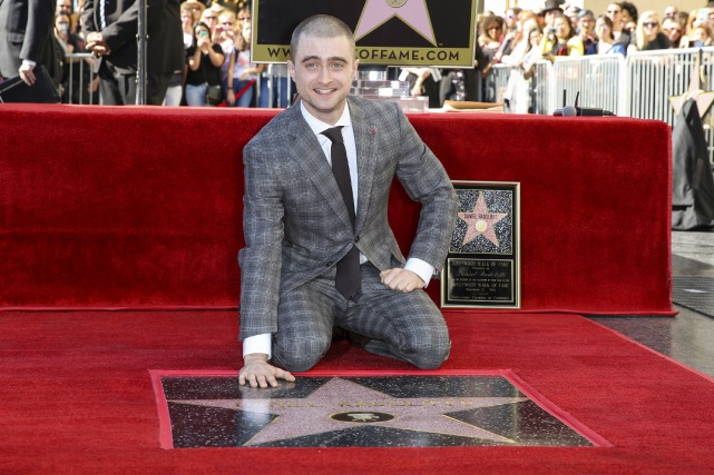 Daniel Radcliffe à Hollywood, jeudi.... (Associated Press)