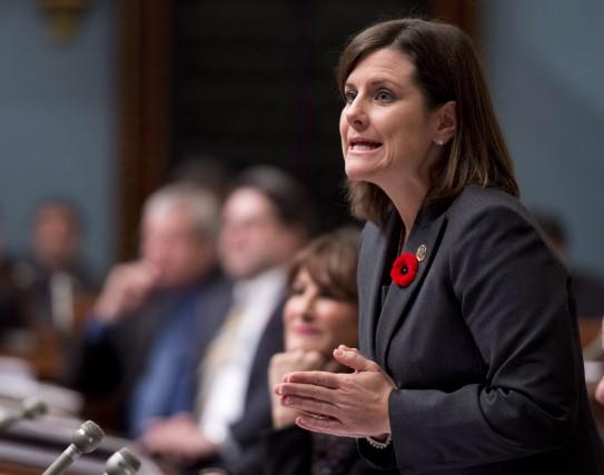 La ministre de la Justice du Québec,Stéphanie Vallée.... (La Presse Canadienne)