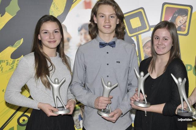 Voici trois des grands gagnants du Mérite sportif... (Photo Le Quotidien, Rocket Lavoie)