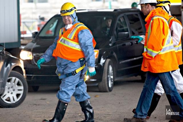Le maire de Montréal Denis Coderres'est rendu sur... (La Presse, Olivier Jean)