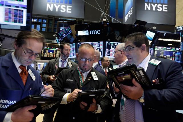 Wall Street a terminé la séance en petite baisse hier, reprenant son souffle... (PHOTO RICHARD DREW, ARCHIVES AP)