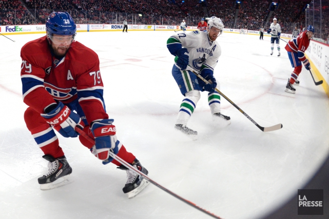Andrei Markov, Daniel Sedin et Brendan Gallagher... (Photo Bernard Brault, archives La Presse)