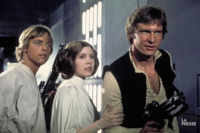 Luke Skywalker (Mark Hamill), Princess Leia (Carrie Fisher)... (PHOTO ARCHIVES LA PRESSE)