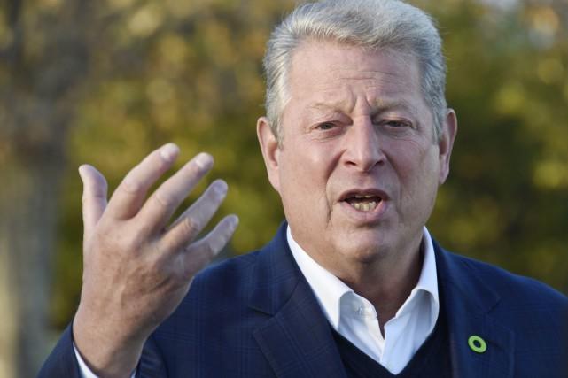 Al Gore a donné vendredi soir le coup... (PHOTO DOMINIQUE FAGET, AFP)