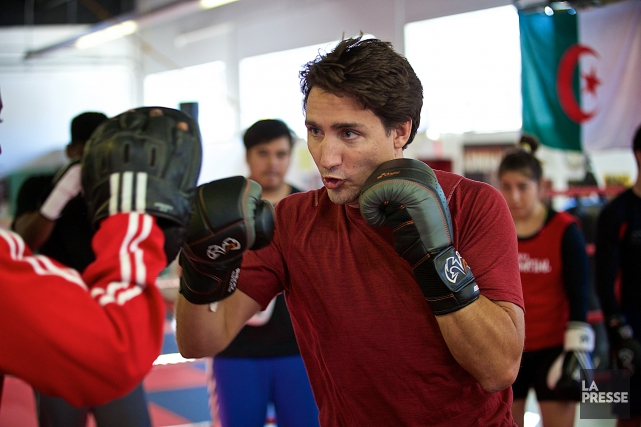 Justin Trudeau pratique la boxe et, à son... (Photo André Pichette, Archives La Presse)