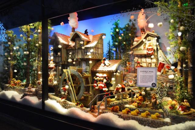 «Le moulin dans la forêt», vitrine de Noël... (photo fournie par Ogilvy)