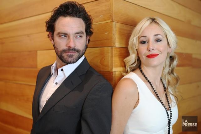 Mariloup Wolfe et Guillaume Lemay-Thivierge, le couple chéri du petit écran,... (PHOTO MARTIN CHAMBERLAND, LA PRESSE)