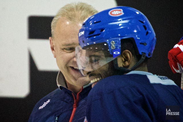 Michel Therrien et P.K. Subban... (Photo André Pichette, archives La Presse)