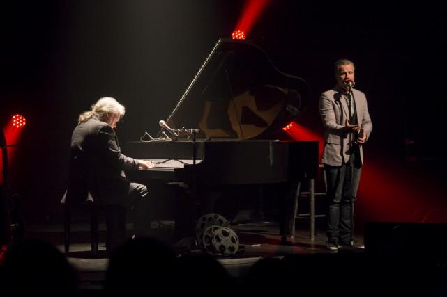 Bruno Pelletier et Guy St-Onge rêvaient d'un projet... (photo Ghyslaine Payant)