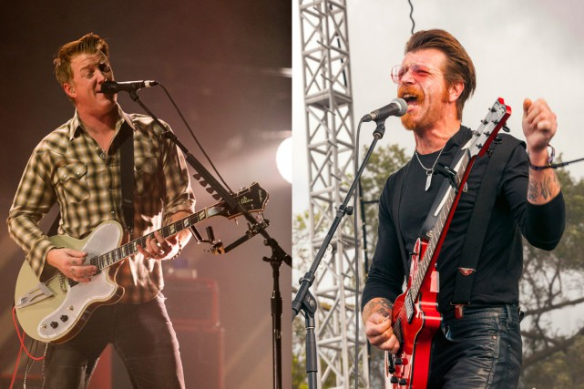 Josh Homme et Jesse Hughes, du groupe blues californien... (Photo d'archives AP)