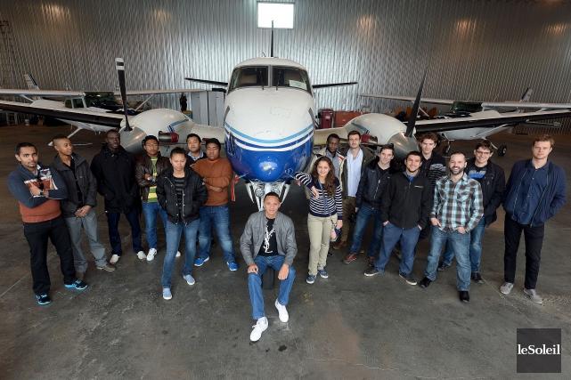 Sur la vingtaine d'étudiants à l'école de pilotage... (Le Soleil, Erick Labbé)