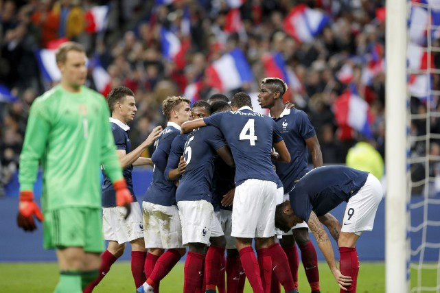 La France a défait l'Allemagne 2-0 dans un... (Christophe Ena, Associated Press)