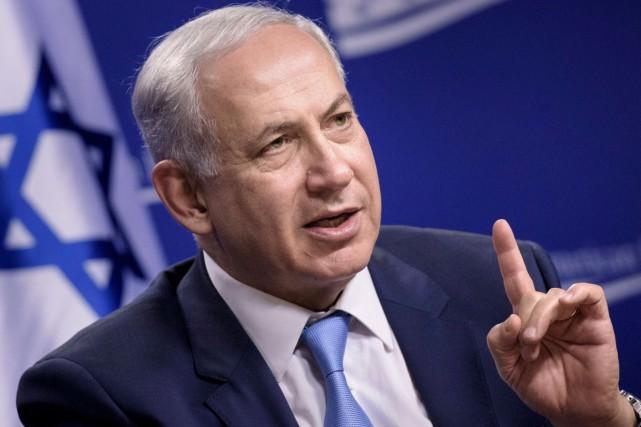 Benjamin Nétanyahou avait affirmé dans la nuit de... (AFP, Brendan Smialowski)