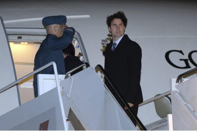 Justin Trudeaus'est envolé pour la Turquie, vendredi soir.... (PHOTO SEAN KILPATRICK, PC)