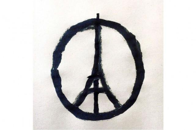 Le dessin, réalisé juste après les attentats de... (AFP)