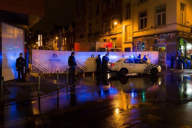 La police a procédé à de nombreuses arrestations.... (PHOTO AFP/BELGA)