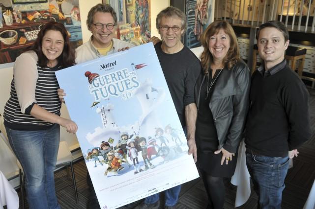 Quelques artisans de La guerre des tuques étaient... (Photo Le Progrès-Dimanche, Rocket Lavoie)
