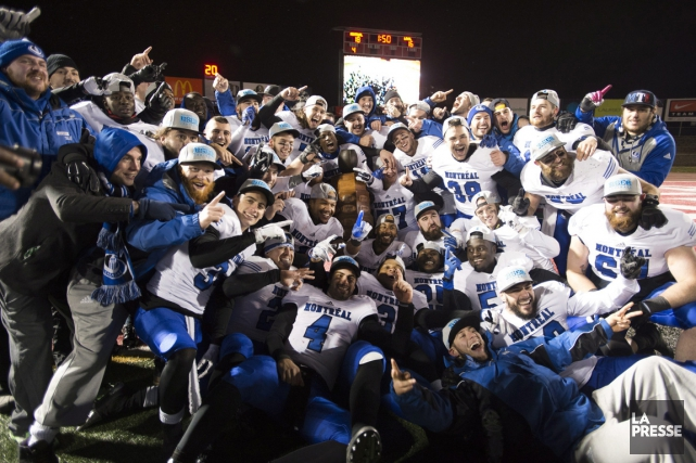 Ce gain permet aux Carabins de mériter leur... (Photo Jacques Boissinot, PC)
