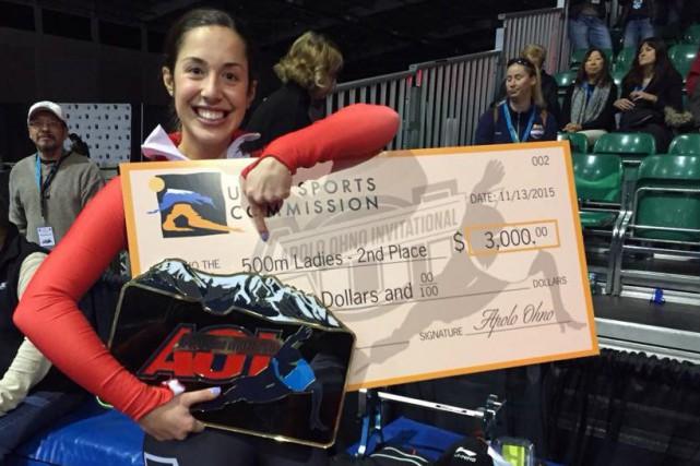 Valérie Maltais repart avec 3000$.... (Photo courtoisie)