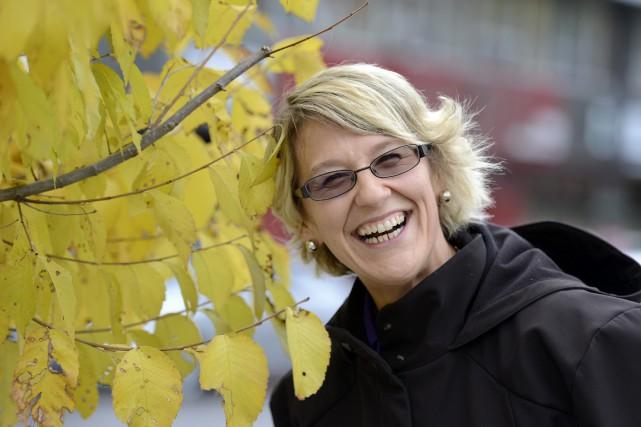 Maude Duchaîne est rayonnante. La mère de famille... (Photo Le Progrès-Dimanche, Jeannot Lévesque)
