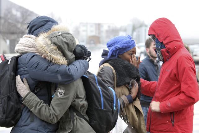 Les étudiants d'origine française ont pu partager leur... (Photo Le Progrès-Dimanche, Rocket Lavoie)