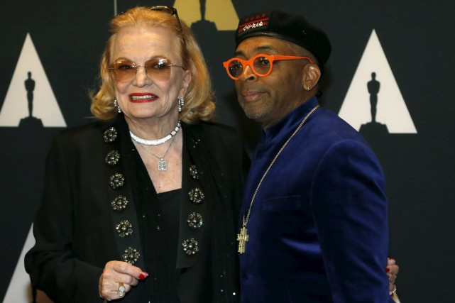 L'actrice Gena Rowlands et le réalisateur Spike Lee... (PHOTO MARIO ANZUONI, REUTERS)