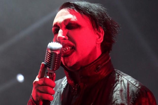 Marilyn Manson devait jouer tout juste avant le... (Archives AP, Owen Sweeney)