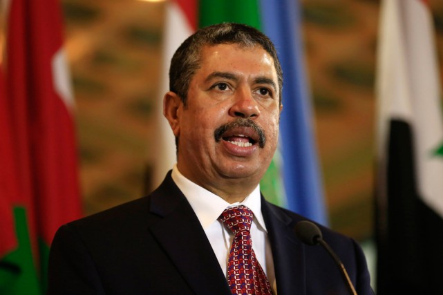 Le premier ministre yéménite Khaled Bahah... (PHOTO HASSAN AMMAR, ARCHIVES AP)