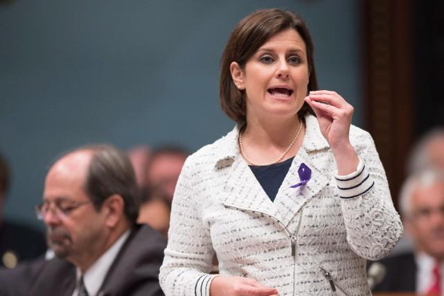 La ministre de la Justice Stéphanie Vallée a... (Photo Jacques Boissinot, Archives La Presse Canadienne)
