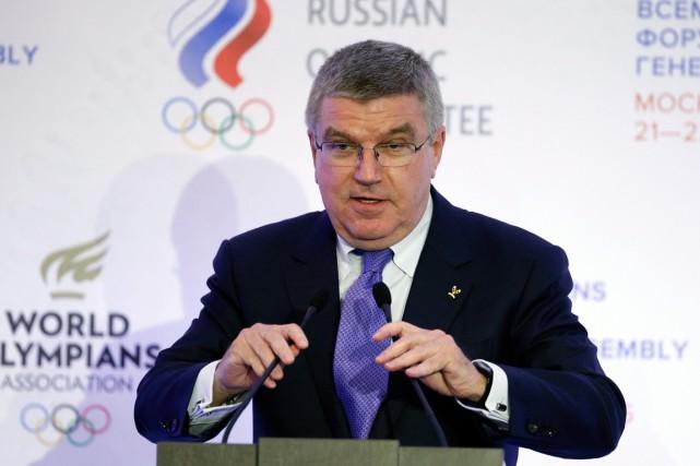 Le président du Comité international olympiqueBach a mentionné... (PHOTO ALEXANDER ZEMLIANICHENKO, AP)