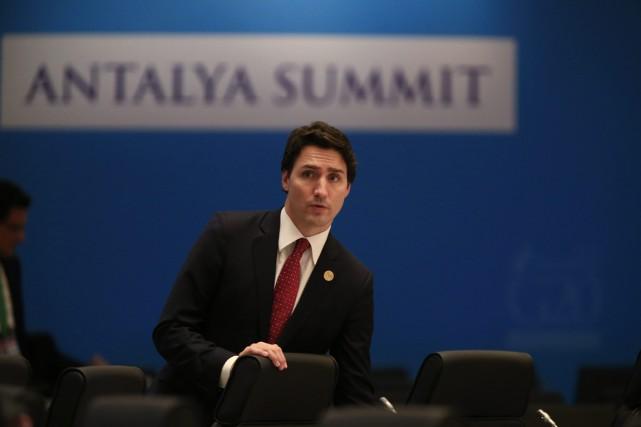 Justin Trudeau est au sommet du G-20 à... (AP,Lefteris Pitarakis)