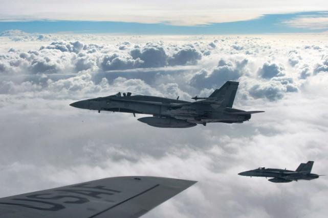 Des CF-18 Hornet dans l'espace aérien irakien.... (Photo archives La Presse Canadienne)