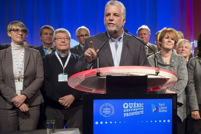 Dans un discours de clôture aux militants, M.... (La Presse Canadienne)