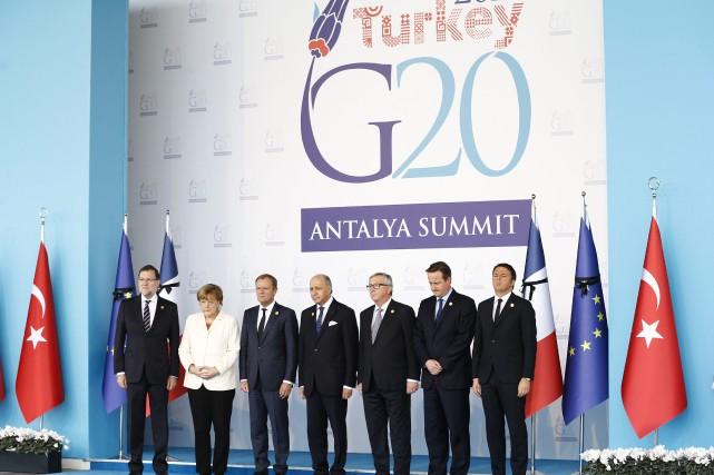 Les chefs d'État et de gouvernement du G20 ont adopté définitivement le plan de... (Photo AP)
