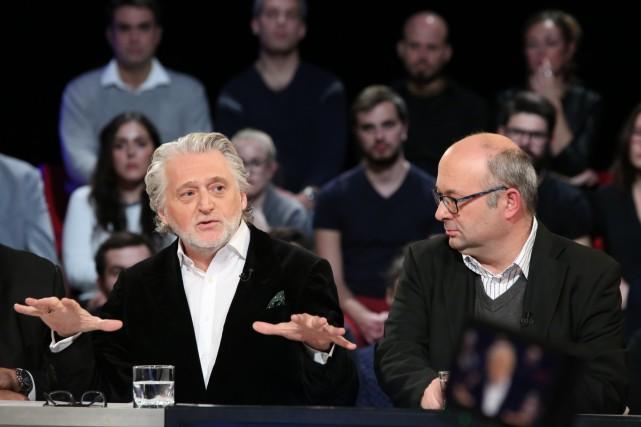 Gilbert Rozon et Michel C. Auger à Tout... (Fournie par Ici Radio-Canada Télé)
