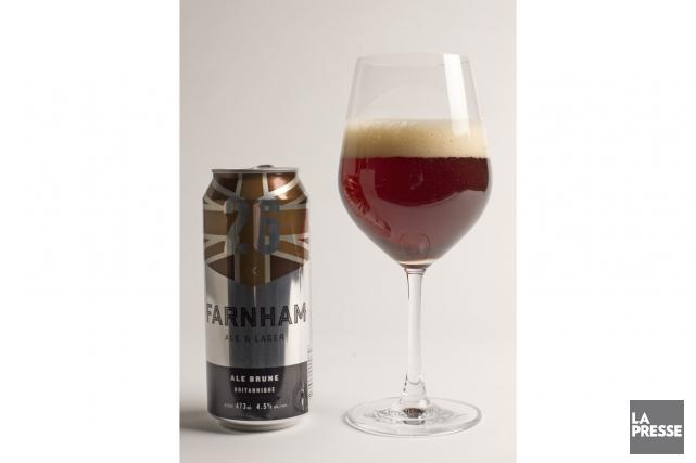 Farnham ale&lager s'est fait connaître avec ses noms de bière originaux, en... (PHOTO OLIVIER JEAN, LA PRESSE)