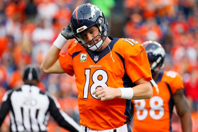 Peyton Manning a été cloué au banc pour... (Photo Jack Dempsey, AP)