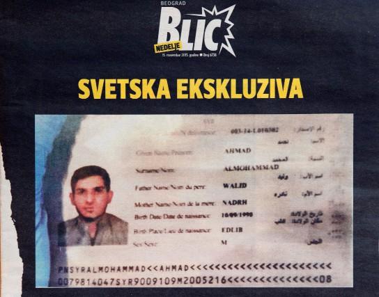 La une du magazine serbe Blic du 15... (PHOTO  ANDREJ ISAKOVIC, AFP)