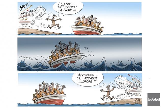 Caricature du mardi 17 novembre 2015... (Le Soleil, André-Philippe Côté)